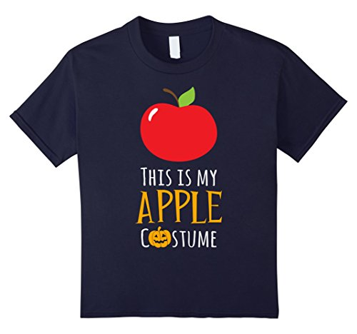 Kids This is My Apple Costume Easy Family Halloween T-Shirt 12 (Halloween Costumes Candy Apple)