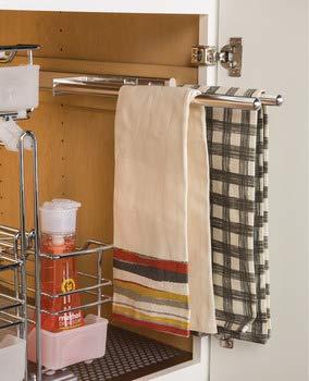 3 Bar Chrome Finish Pull-Out Extending Towel Rack ()