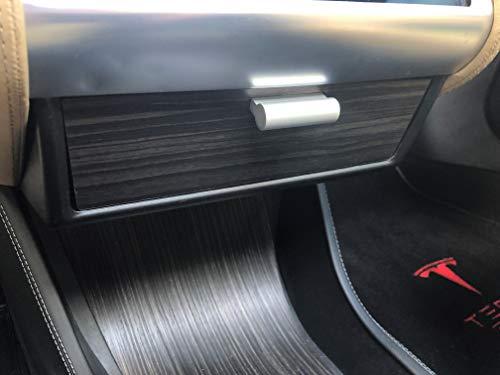 EVAmped T-Drawer for Tesla Model S and Model X, Tesla Drawer, Dash Drawer (Matte Obeche Horizontal Grain) ()