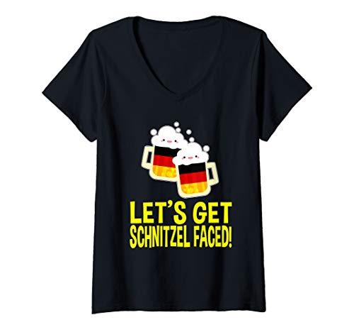 Womens Best Oktoberfest Outfit Ideas for Female Girl German Men V-Neck T-Shirt]()