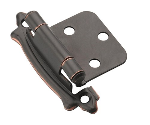 Variable Overlay Self-Closing, Face Mount Oil-Rubbed Bronze Hinge - 2 Pack