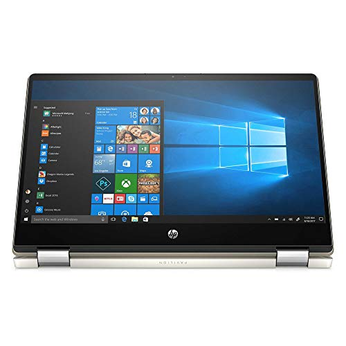 2021 HP Pavilion X360 14 Inch FHD 1080P Touchscreen 2-in-1 Laptop, Intel Core i5-10210U (Beats i7-7500U), 32GB RAM, 2TB SSD, Backlit KB, Win10 Pro + NexiGo Wireless Mouse Bundle