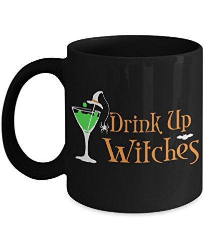 Funny Halloween Coffee Mugs - Drink Up Witches Halloween - Best Gifts For Friends, Women, Men - Pumpkin Coffee Mug, Tea Cup 11 oz, 15 oz