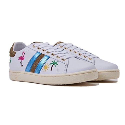 Tropical applicazioni e Sneakers Bianco Primavera Pelle Colore Serafini In WHITE 2018 Collezione CON Nuova Estate JCONNORSJCO03 Laccio wtUwp