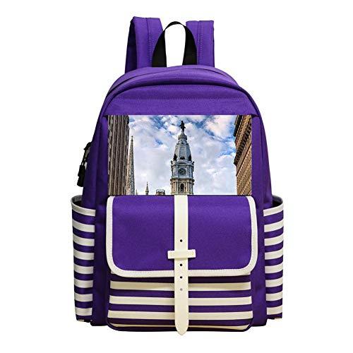 (KAKAKAA Washington Boulevard Children Cartoon Backpack Outdoor Bag)