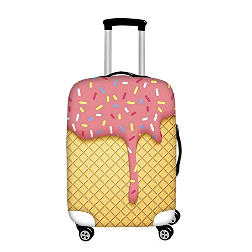 ChezMax High Elastic Thick Luggage Cover Spandex Travel Suitcase Protective Cover L Ice Cream