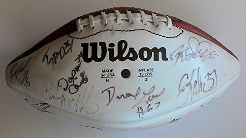 (Rare Official 1995 Wilson Hawaii Pro Bowl AFC Team Signed Football By 27 JOHN ELWAY (HOF) Drew Bledsoe ROD WOODSON Bruce Mathews BRUCE SMITH Kevin Greene GREG LLOYD with Full)