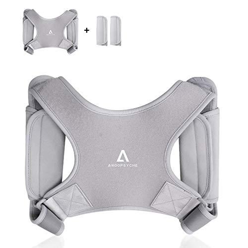 🥇 Anoopsyche Corrector de Postura Corrector Espalda Soporte Ajustable para Postura de Espalda Transpirable Corrección Postural Aliviar el Dolor para Mujeres y Hombres