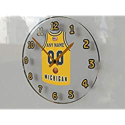 FanPlastic College Basketball USA - We're Number ONE College Hoops Wall Clocks - Support Your Team !!! (Michigan Wolverines)