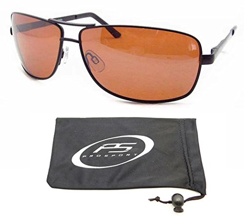 Polarized Aviator Sunglasses with premium TAC Polarized High Definition HD lenses and durable high nickel metal frames. Free Microfiber Cleaning Case - Aviator High Definition Sunglasses