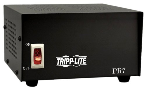 Tripp Lite PR7 DC Power Supply Low Profile 7A 120V AC Input to 13.8 DC Output (Stereo Power Supply)