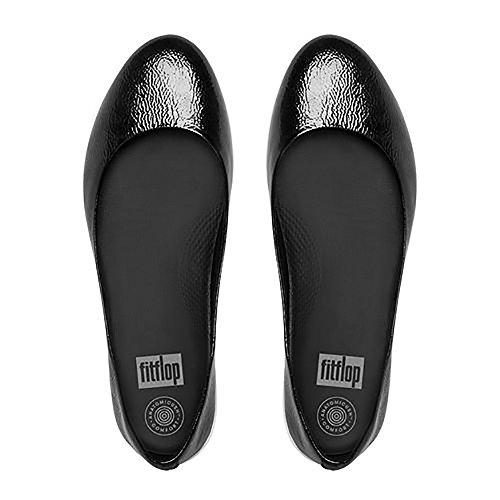 Patent Donna TM Ballerine Super Black Patent Fitflop Nero All 8HZOqn
