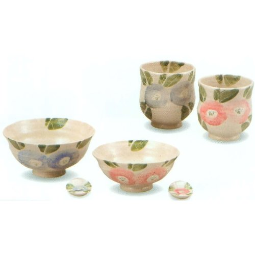 Kutani ceramics Kutani K3-565 Camellia statement chopsticks MC Kutani Japanese kiln diameter 4.92 X 2.36inch by Kutani ceramics