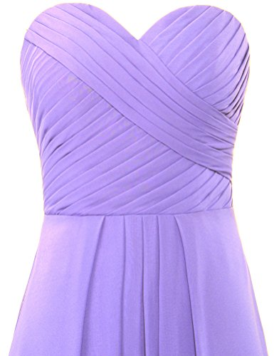 Bridesmaid Sweetheart Women's Party Lavender ANTS Chiffon Gown Dresses Long FxZS14wf
