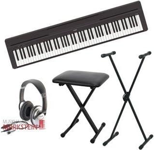 Yamaha P-45 Set-II - Piano de escenario con trípode, banco y auriculares