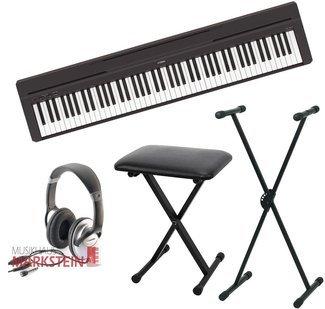 Yamaha P de 45 Juego de II Stage Piano con trípode, banco, auriculares
