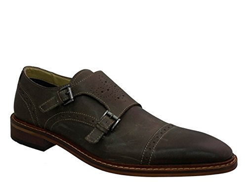 Giorgio Brutini 24931 Mens Double Monk Cap Toe Slip-on,Grey,7.5M