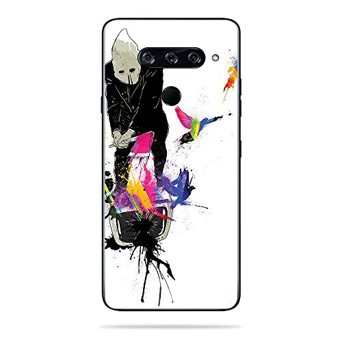 MightySkins Skin for LG V40 ThinQ - Executioner | Protective, Durable, and Unique Vinyl Decal wrap Cover | Easy to Apply, Remove, and Change Styles | Made in The USA (Riot Ski)