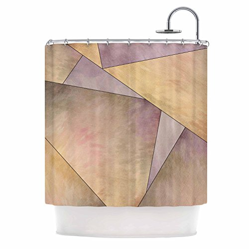 "Discount KESS InHouse Sylvia Cook Fracture Purple Gold Digital Shower Curtain, 69"" x 70"" for cheap"
