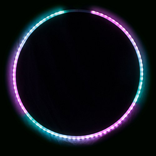 Echo Glow - Light Up Collapsible Professional Hula Hoop with 84 LED's, Fully Rechargeable + Remote Control! 300+ Light Patterns! by Echo Hoop (Image #6)