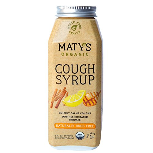Matys Organic Cough Syrup, 6 Fluid Ounce, Soothes Throats & Calms Dry Coughs With Organic Honey and Immune Boosting Ingredients, Helps Ease Common Cold Symptoms (Dry Syrup Cough)