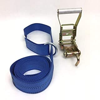 product image for Safe 'n Secure 10ft Diamond Weave Lasso Strap with O-Ring and Finger Hook Ratchet (Blue, ONE)