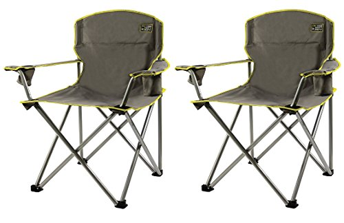 Quik Chair Heavy Duty Folding Camp Chair - Grey (Pack of 2)