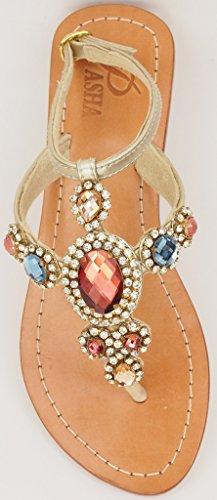 e278afb83 PASHA Corinth Dark Crystal Jeweled Leather Sandals (5)