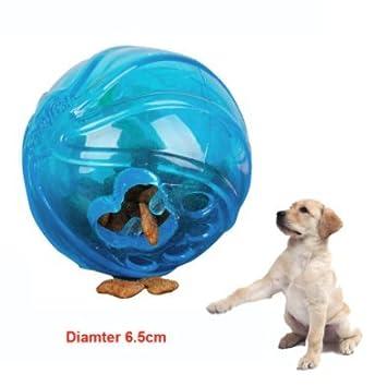 Juguete interactivo pelota de goma dispensador de comida para perros juego y alimento al tiempo cachorros y adultos de OPEN BUY: Amazon.es: Deportes y aire ...