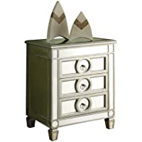 Monarch Specialties 3-Drawer Accent Table, Mirrored