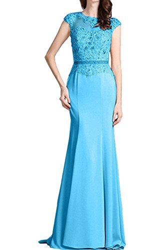 Braut mia Damen Trumpet Blau Abiballkleider Abendkleider Abschlussballkleider La Lang Spitze Ballkleider 1qR5Fx5w