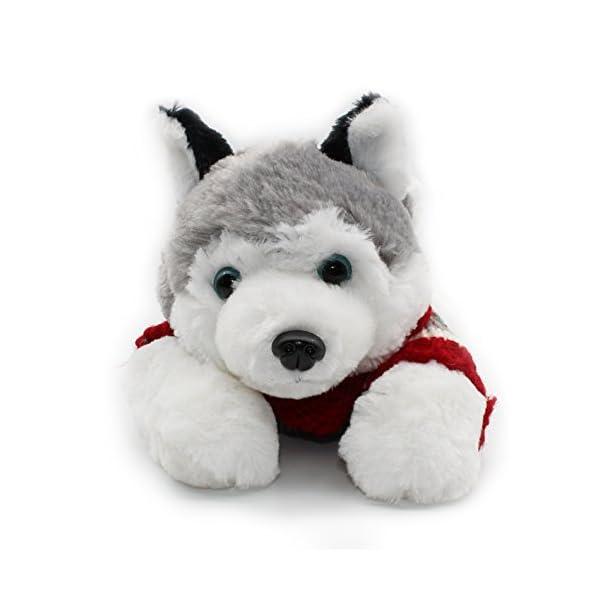 "Vintoys Soft Plush Toy Lying Siberian Husky Plush Puppy Stuffed Animals Dogs 12"" 2"