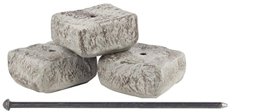 RTS Home Accents Rock Lock 3-Piece End Rock Set with 18-Inch Spike