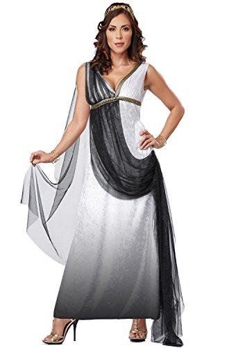 California Costumes Women's Platium Collection - Deluxe Roman Empress Adult, Black/White, Medium for $<!--$25.00-->