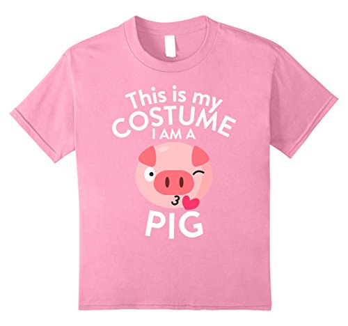 Kids This Is My Costume I'm A Pig T-shirt Pig Lovers 8 (Cute But Scary Halloween Costumes Ideas)