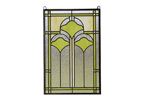 Ginkgo Stained Glass Window - 15.25