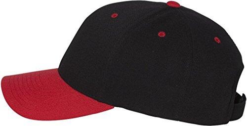 Flexfit Cool & Dry Pro-Formance Serge Cap. 110C - Black / Red - One Size