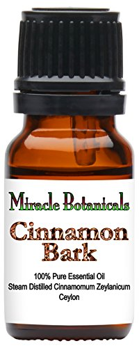 Miracle Botanicals Ceylon Cinnamon Bark Essential Oil (True Cinnamon) - 100% Pure Cinnamomum Zeylanicum - Therapeutic Grade - 10ml or 30ml Sizes - 10ml