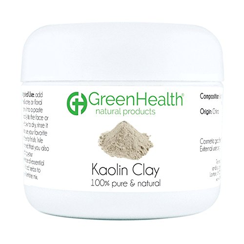 Kaolin Clay Powder - 100% Pure & Natural by GreenHealth (1 5 oz)