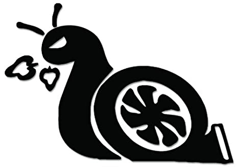 JDM Turbo Snail Slow Funny Vinyl Decal Sticker For Vehicle Car Truck Window Bumper Wall Decor