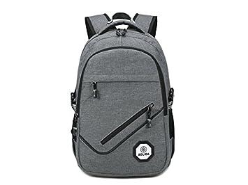 Yter Conveniente Mochila antirrobo del Ordenador portátil del Hombre con el Puerto de Carga del USB: Amazon.es: Electrónica