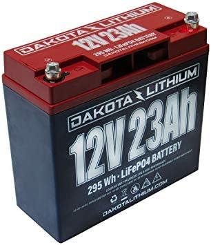 Dakota Lithium | 12V 23Ah LiFePO4 | 11 Year USA Warranty 2000+ Deep Cycle Battery