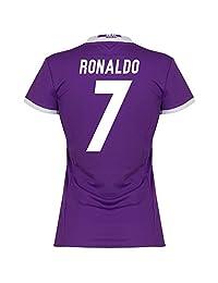 Real Madrid Away Womens Ronaldo Jersey 2016 / 2017 (Fan Style Printing)