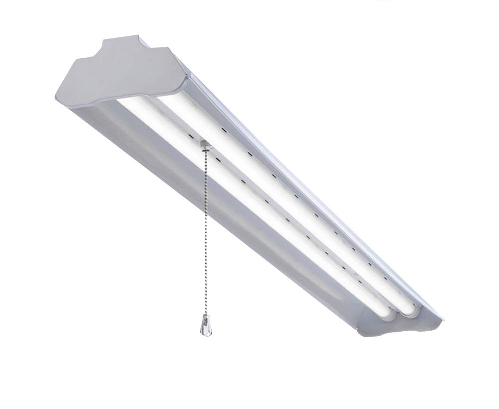 Led shop light for garages small warehouses and shops 4 foot with plug linkable 36 watt and 3600 lumens