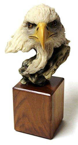 Spirit of the Eagle Head Bust Statue Figurine Decorative Gift & Decor Items Showpiece ()