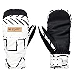 DC Apparel Franchise Womens Snow MITT Glove, Silver Birch mud Cloth a, S