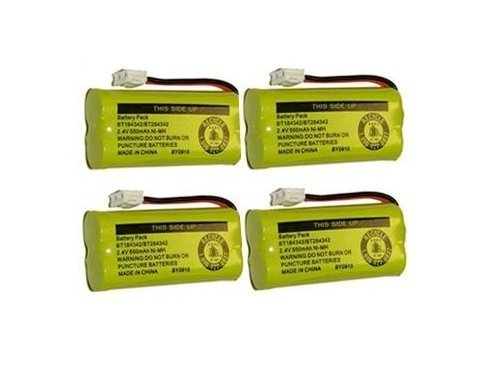 4 Cordless Home Phone Battery for ATT BT184342 BT28433 (Bulk Packaging), Office Central