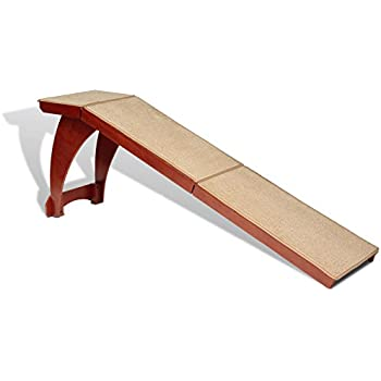 PetSafe Solvit Wood Bedside Pet Ramp, Indoor Pet Ramp for Cats and Dogs, Measures 70 in. Long, Perfect for Pets Weighing up to 120 lb., Great Alternative to Pet Steps or Pet Stairs