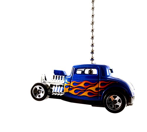 Hot Wheels Ford Diecast Cars Ceiling Fan Light Pull Ornaments 1:64 (1932 Ford Hot Rod Blue)