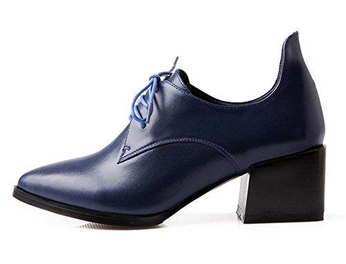 con di da in pelle punta pizzo primo Blue donna scarpe nel New strato Spring scarpe 0q4wpz